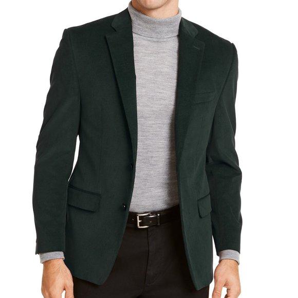 Lauren Ralph Lauren Corduroy Green Sport Coat 40L